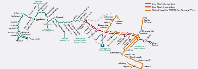 Liniennetz Grenzach-Wyhlen