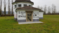 Hochbehälter wurde mit Graffiti beschmiert