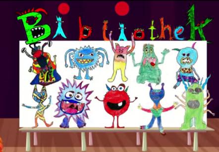 """Screenshot des Videos """"Malwettbewerb Finale"""" zum Malwettbewerb der Gemeindebücherei für Grundschüler, Oktober 2019"""